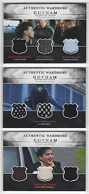 Non-sport Trading Cards Batman Trading Cards Fast Deliver 2016 Cryptozoic Gotham Season 1 Set Of 3 Triple Wardrobe Relic Cards Tm1 Tm2 Tm3 Fine Craftsmanship