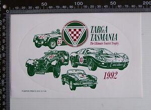 VINTAGE-1992-TARGA-TASMANIA-ULTIMATE-TOURIST-TROPHY-ADVERTISING-PROMO-STICKER