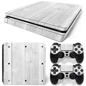 PS4-slim-Skin-White-wood-grain-Cover-Sticker-for-Sony-playstation-4