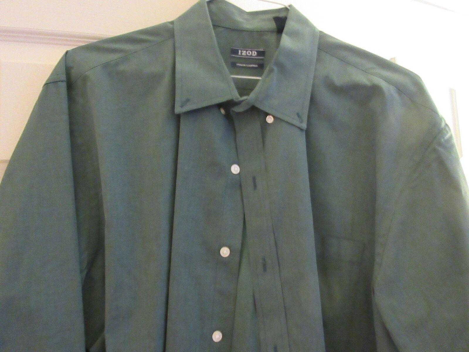 IZOD , Men's Long Sleeve Shirt , Size XL/TG/XG , 100% C