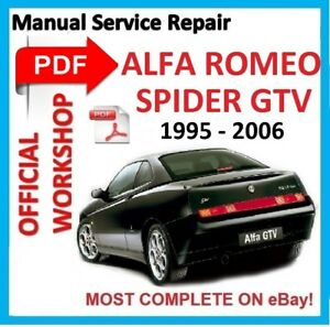OFFICIAL WORKSHOP MANUAL Service Repair FOR ALFA ROMEO SPIDER GTV - Alfa romeo spider workshop manual