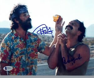 Cheech-Marin-amp-Tommy-Chong-Signed-Autographed-8x10-Photo-Beckett-BAS-COA