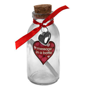Details About Valentine S Day Gift 11cm Message In A Bottle Add Your Own Personalised Message