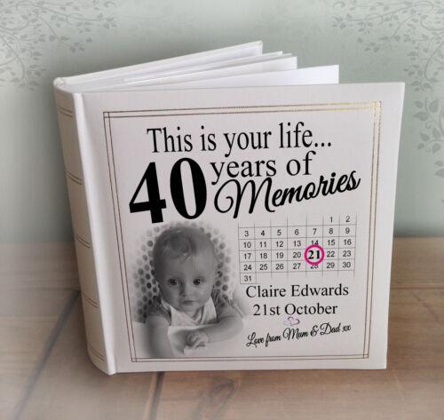 "200 x 6x4/"" photos 40th birthday memories gift Personalised large photo album"