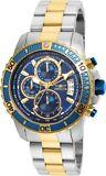 Invicta 22415 Men's Blue 45mm 'Pro Diver' Quartz Stainless Steel Casual Watch