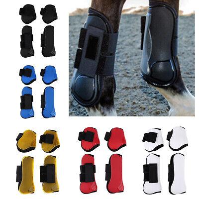 4pcs//set Horse Tendon Fetlock Boot Jumping Horse Front Hind Leg Protection Black