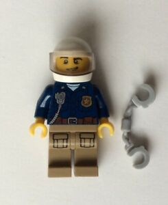 LEGO New Mountain Police City Officer Minifigure with Handcuffs