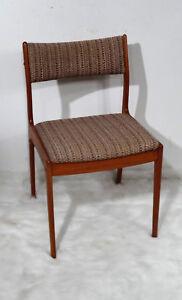Teak Holz Stuhl Danish Design Uldum Möbelfabrik mid century desgn  1960er