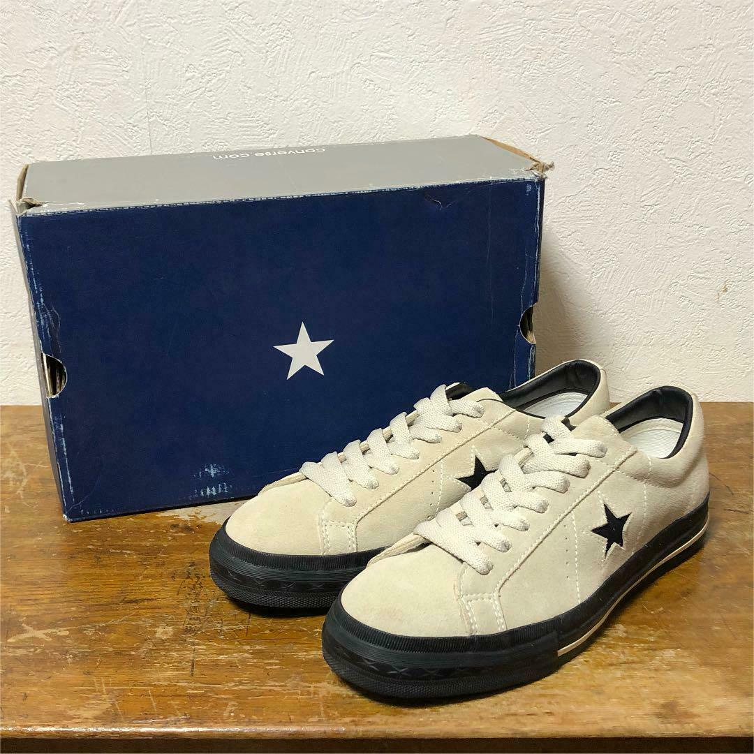 Converse One Star Suede Sneaker Size 7.5 Sand beige Dead Stock Vintage Rare