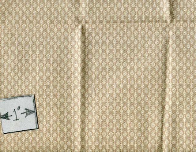 Fabric Brodnax Prints KenilwortH CVT06 miniature dollhouse Cotton 1//12 scale 1pc