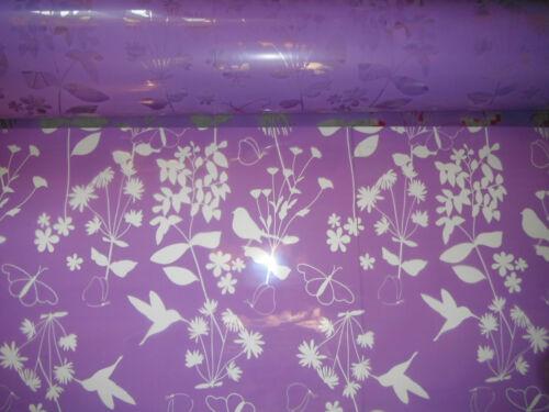 80cm X 2mtrs cellophane wrap GIFT //BOTTLE HAMPER WRAP harper purple