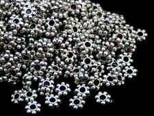100  Pcs Tibetan Silver 4mm Daisy Spacer Beads Bead Jewellery Findings G143