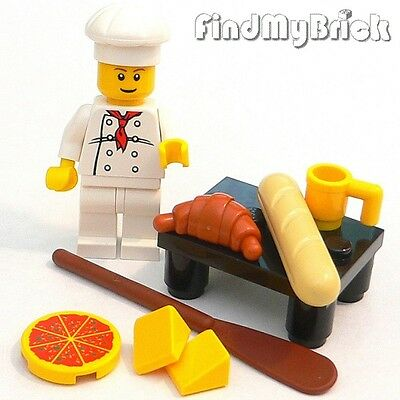 R5 Lego Baker Chef Cook Minifigure Food Bakery Counter Utensil & Accessories NEW