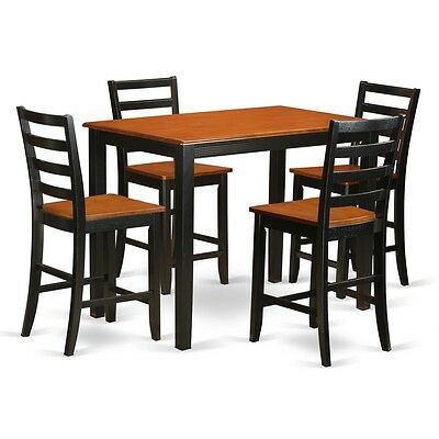 5 Piece Counter Height Pub Set Small Kitchen Table And 4 Kitchen Bar Stool 682962649024 Ebay