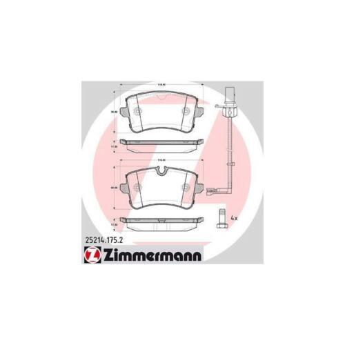 Beläge hinten Audi A6 A7 Porsche Macan Zimmermann Sport-Bremsscheiben 330mm