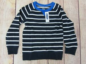 Old-Navy-Boy-039-s-Striped-Raglan-Crew-Sweatshirt-3T-Blue-NWT