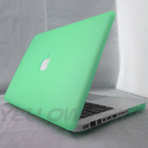"Black Rubberized Matte Hard Case Cover Skin For Macbook Pro Air 11 12 13 15/"""