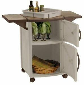 Image Is Loading Patio Cabinet And Prep Station Outdoor Serving Storage