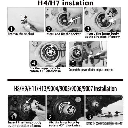 2Pcs 9005 HB3 LED High Power 160W Auto Car Headlight Upgrade Bulbs 6000K White