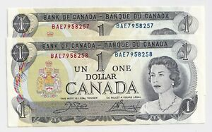 2-x-Sequential-1973-1-Bank-of-Canada-Notes-BAE7958257-8-UNC