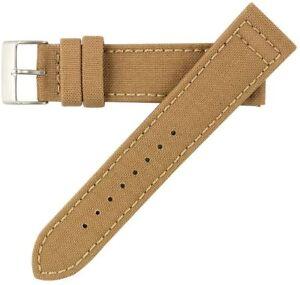 22mm-Herren-Sand-Khaki-Tan-Cordura-Canvas-Watch-Band-Uhrenarmband-Hadley-Roma-MS850