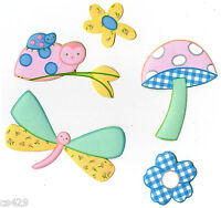 Kidsline Gossamer Wings Pastel Dragonfly Nursery Prepasted Wall Border Cut Out