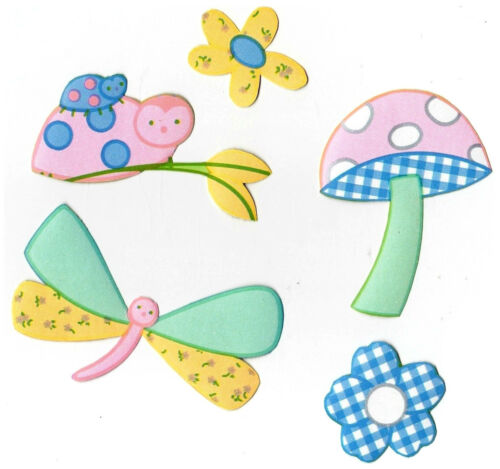 Kidsline gossamer wings pastel wall decal set dragonfly prepasted border cut out