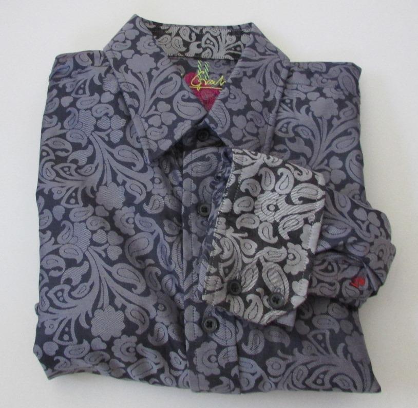 Robert Graham Gallow Grau XL shirt man sport grau cotton new mens button