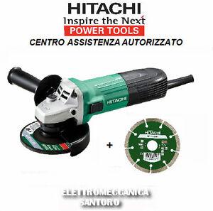 SMERIGLIATRICE-ANGOLARE-G12STA-115-mm-WATT-600-HITACHI-PIU-039-DISCO-DIAMANTATO