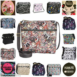 LeSportsac-Small-Cleo-Crossbody-Bag-Disney-Minnie-Mouse-Snoopy-Rifle-Paper-NWT