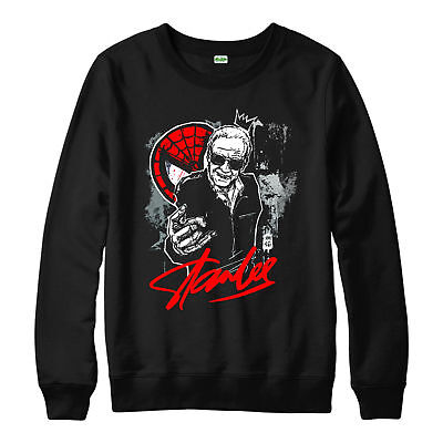 Spiderman Stan Lee Jumper Avengers Marvel Superhero Unisex Adult Kids Jumper Top
