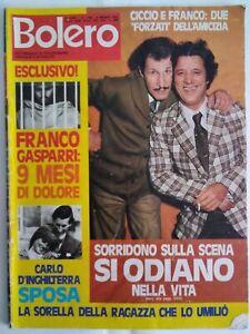 Bolero 1766 Franco Ciccio Regazzoni MIna Cabrini Hallyday Schroder Amanda Lear