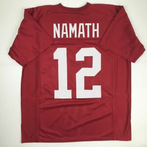 huge discount 2310f 36e26 Details about New JOE NAMATH Alabama Red College Custom Stitched Football  Jersey Size Men's XL