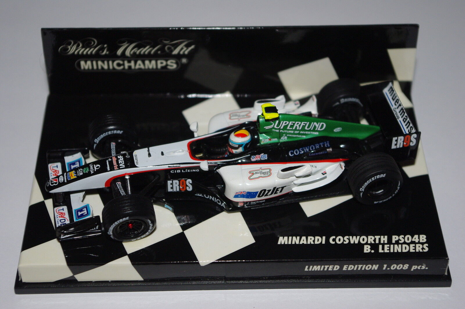 Minichamps F1 1 43 Minardi Cosworth PS04B B. Leinders édition limitée