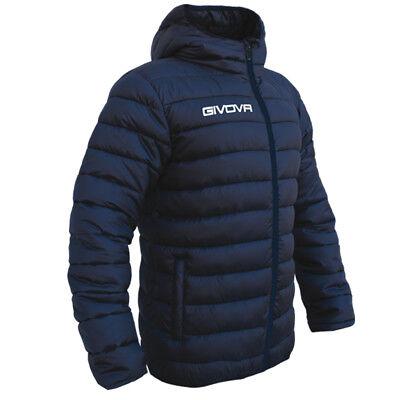 100% Vero Giubbino Givova Olanda Blu Calcio Piumino Jacket Freetime
