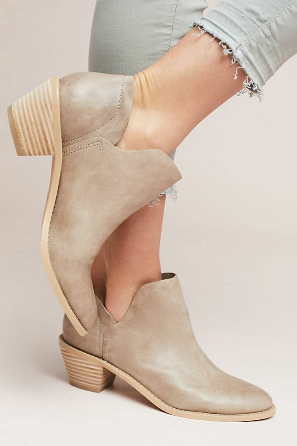 Anthropologie KELSI Tan DAGGER Kenmare Ankle Booties Silver Tan KELSI Stiefel 5.5 7 be0cc3