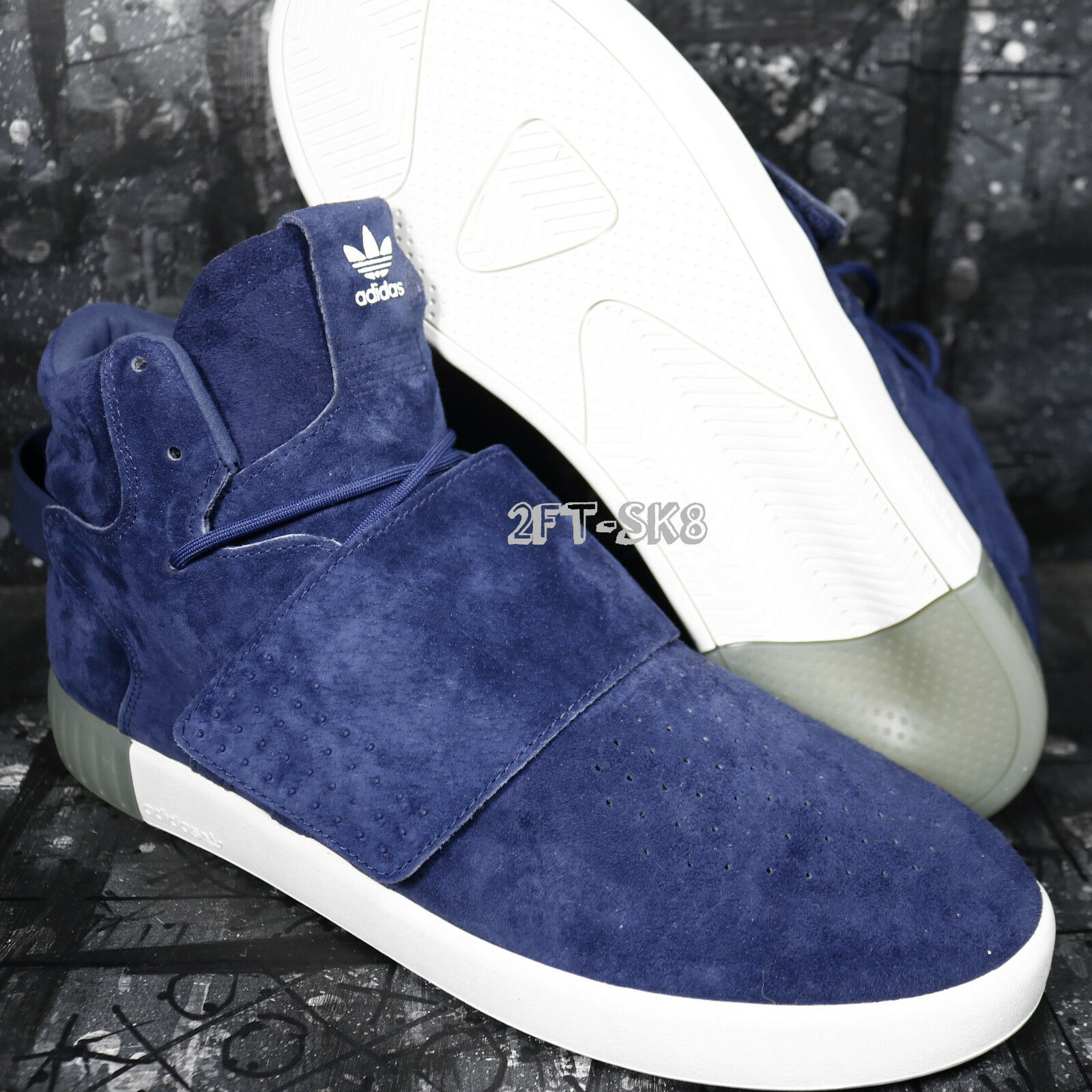ADIDAS TUBULAR INVADER STRAP DARK blueE MENS SIZE 13 HIGH TOP SNEAKER  S91100.452
