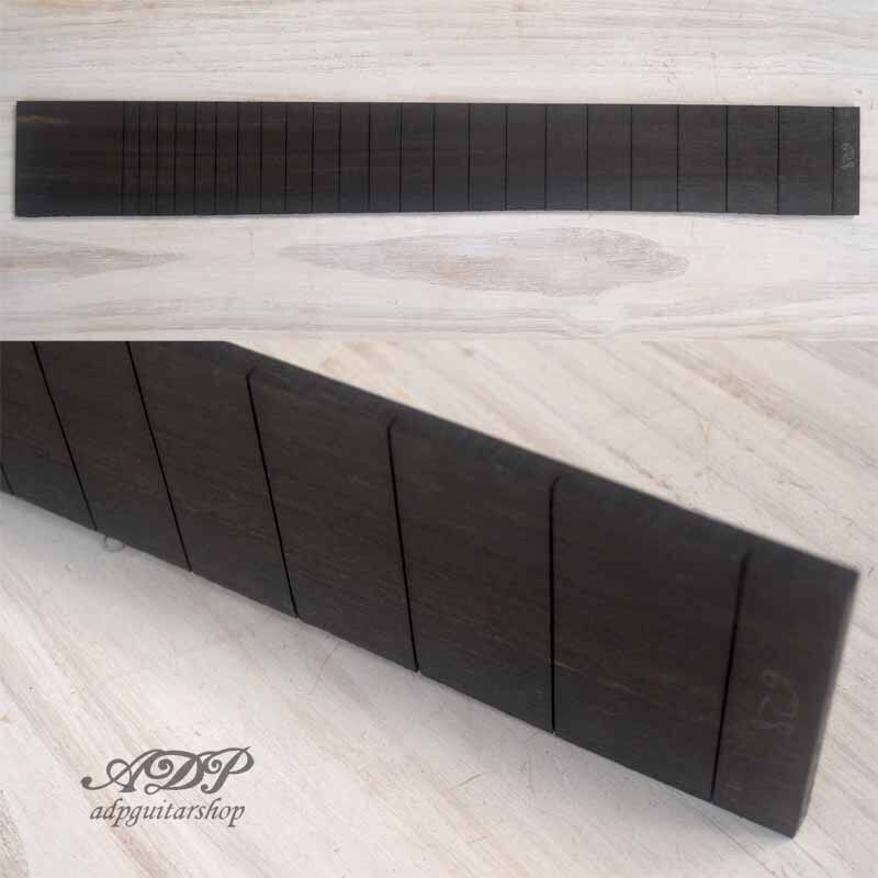 Touche Guitare Ebene Slotted Ebony Fingerboard Fender 25.5   648.5mm Luthier