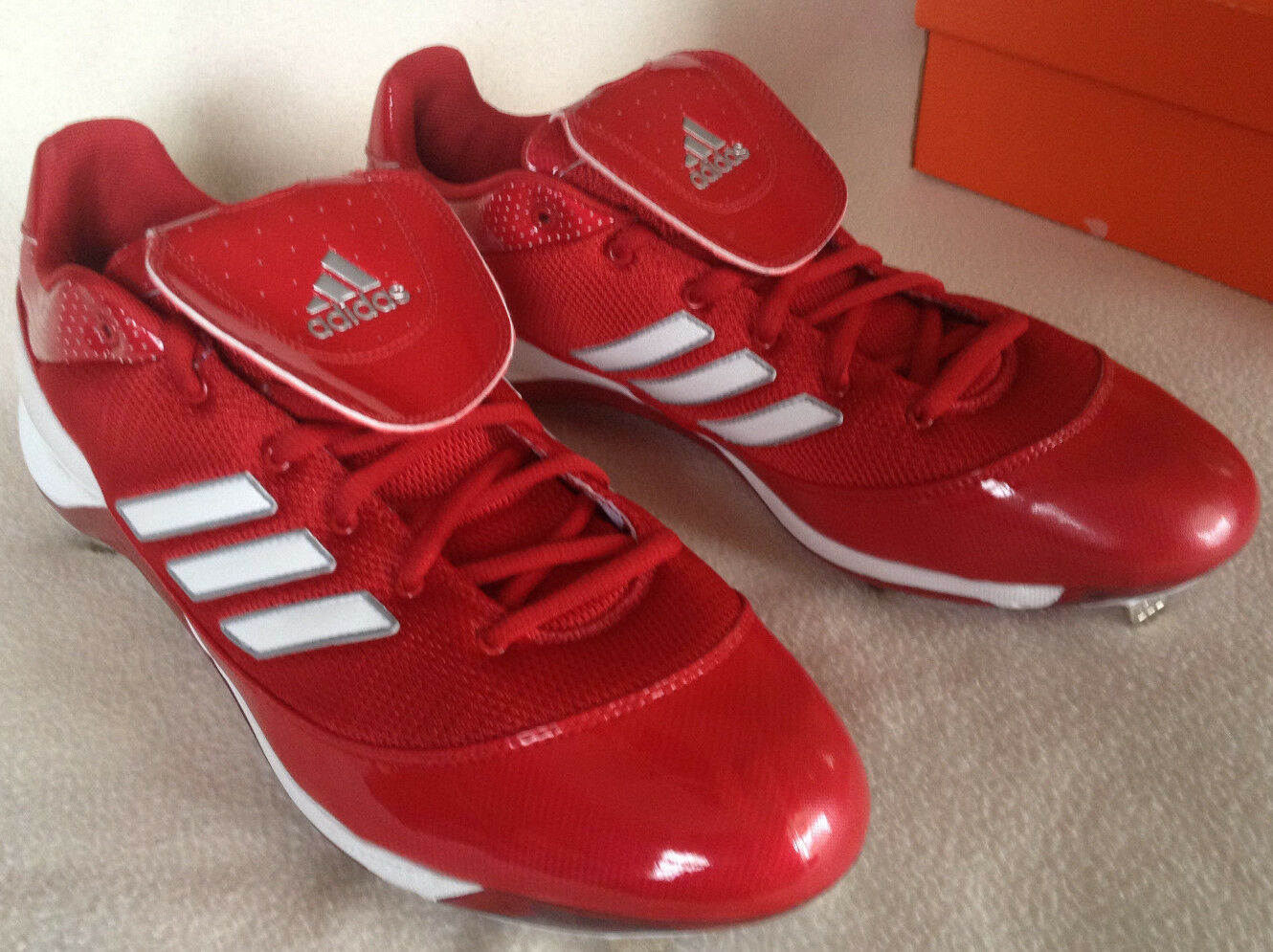 Adidas AS SMU Excel 365 Ex G56590 Red Baseball Metal Cleats shoes Men's 14 new