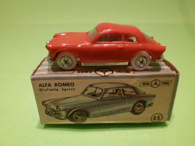 ANGUPLAS MINI voitureS 2 ALFA ROMEO   GIULIETTA SPRINT -  VERY RARE - GOOD IN BOX  meilleurs prix
