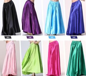 NEW-Belly-Dance-Carnival-Gypsy-Skirt-Fancy-Costume-Circle-Swing-Full-satin-skirt