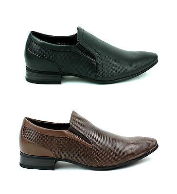 Para Hombre Diseño Jas Informal Aspecto De Cuero Zapatos De Oficina Inteligente tamaño de Reino Unido 6 7 8 9 10 11