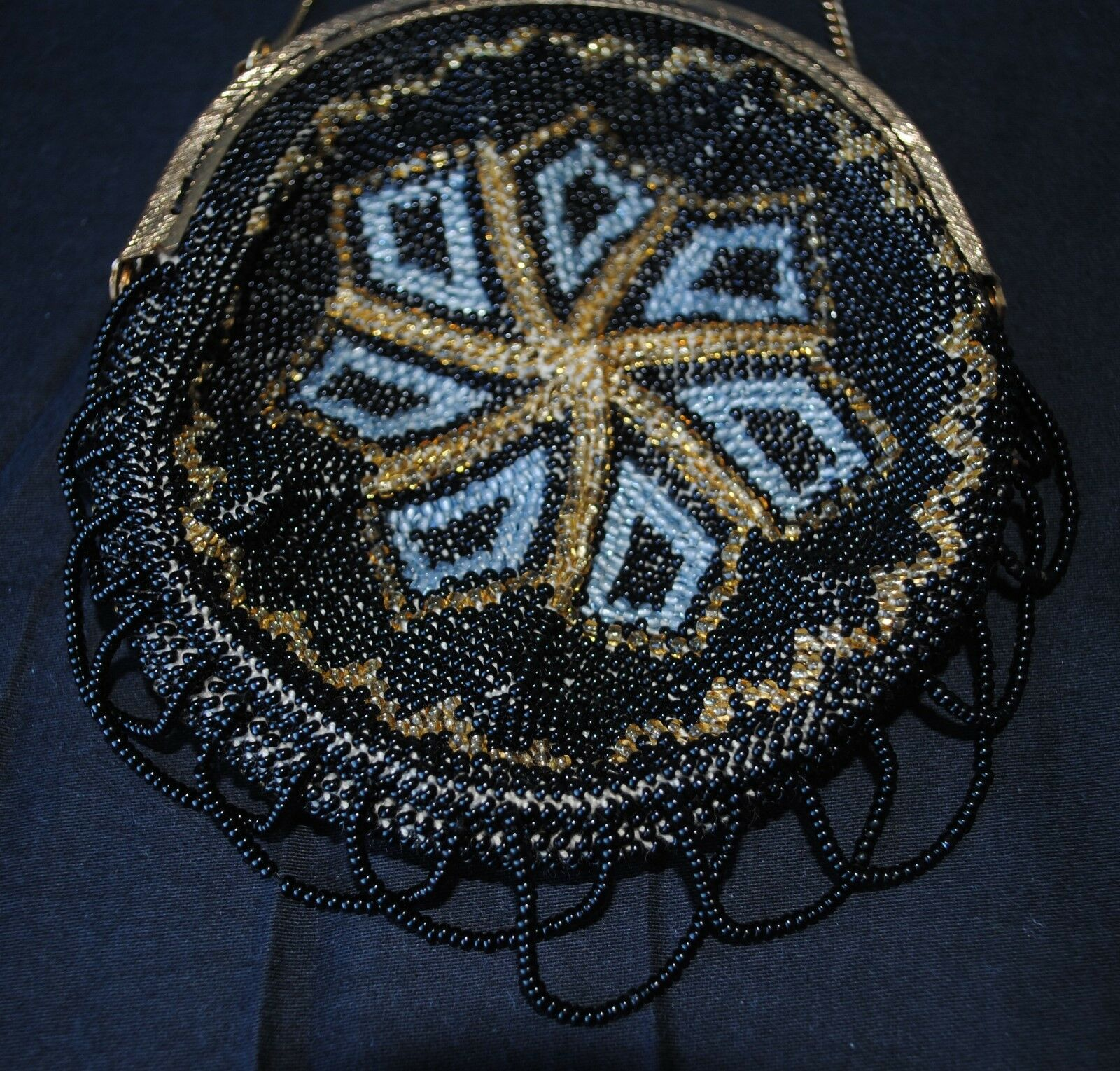 Vintage beaded purse bag for large antique french or or or german doll f77a3f
