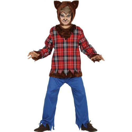 Child Wolf Boy Costume 3-4 Years Werewolf  Halloween Fancy Dress Costume