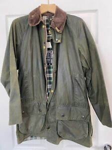Barbour-Beaufort-Classic-Green-Waxed-Jacket-Size-C38-97cm