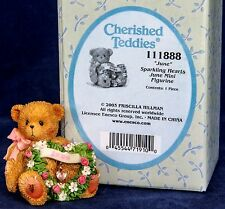"Cherished Teddies ""Sparkling Hearts""  Mini Figurine for June Birthdays NIB"