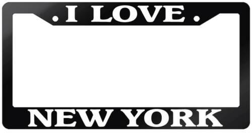 Glossy Black License Plate Frame I LOVE NEW YORK Auto Accessory 2414