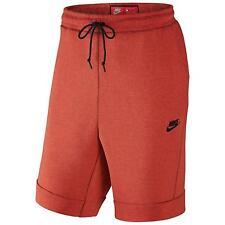 100% Auth Nike NSW Sportswear Tech Fleece Shorts Orange sz L [805160-852]