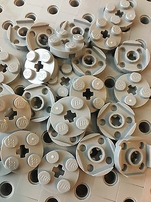 LEGO White 2x2 Round Plate With Axle Hole Pieces Bricks New Part 4032 Lot Of 24