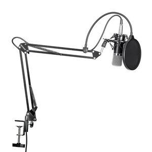Professional-Condenser-Microphone-Mic-Studio-Sound-Recording-w-Arm-Stand-Set